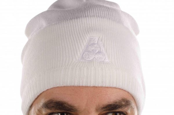 Beanie With Tone on Tone BA Logo 4