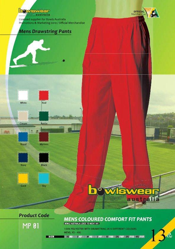 Bowlswear Australia Drawstring Pants 3