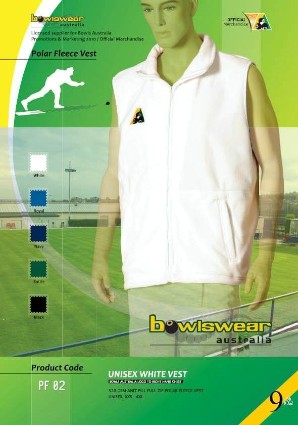 Bowlswear Australia Polar Fleece Vest - Unisex 1