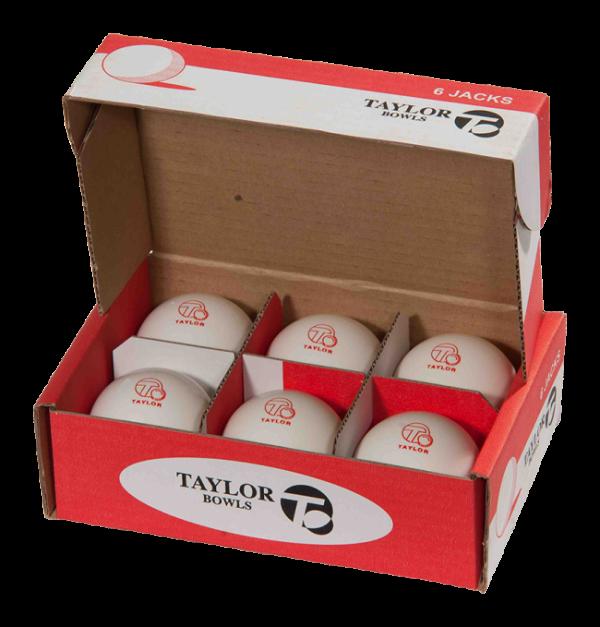 White Taylor 10oz Lawn Bowls Jack Outdoor 2