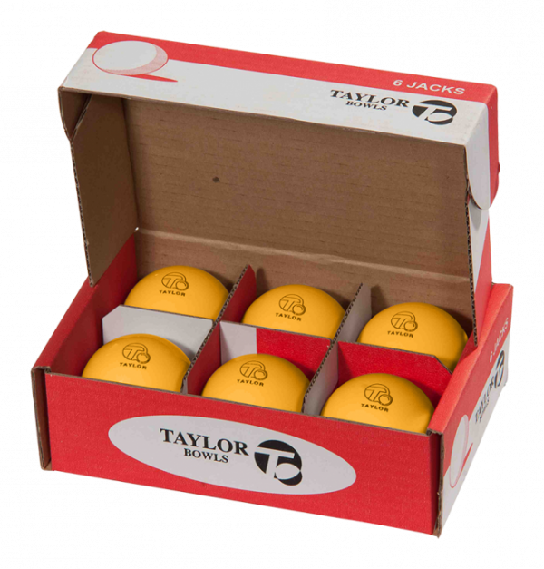 Taylor Yellow Heavyweight Outdoor Lawn Bowls Jack 2