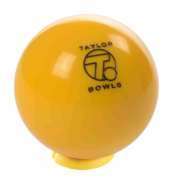Taylor Yellow Heavyweight Outdoor Lawn Bowls Jack 1