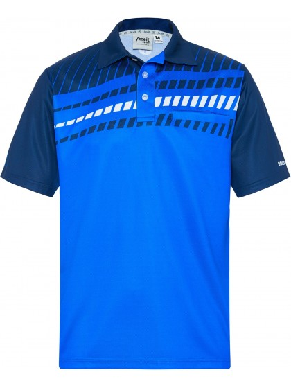 DRAKES PRIDE MEN'S ALPHA LAWN BOWLS POLO ROYAL/NAVY 1
