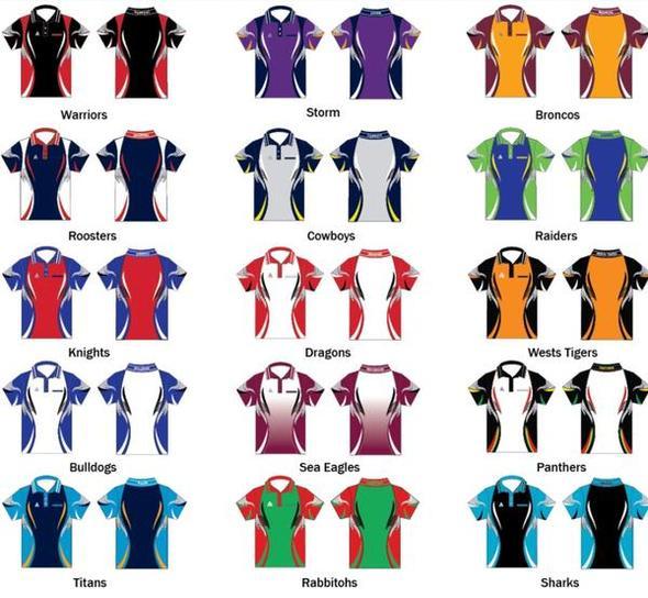 Unisex Rugby League Tournament Shirts 1